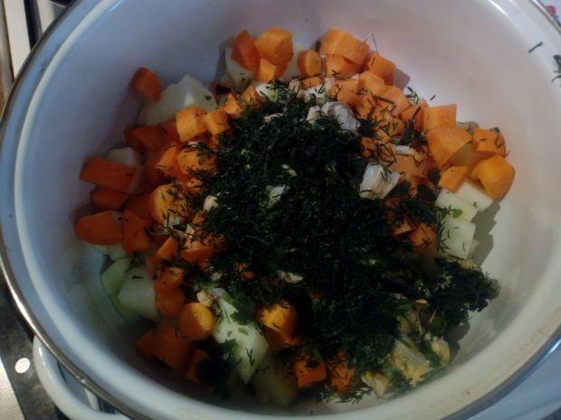 Zupa krem z cukinii i marchewki z koperkiem