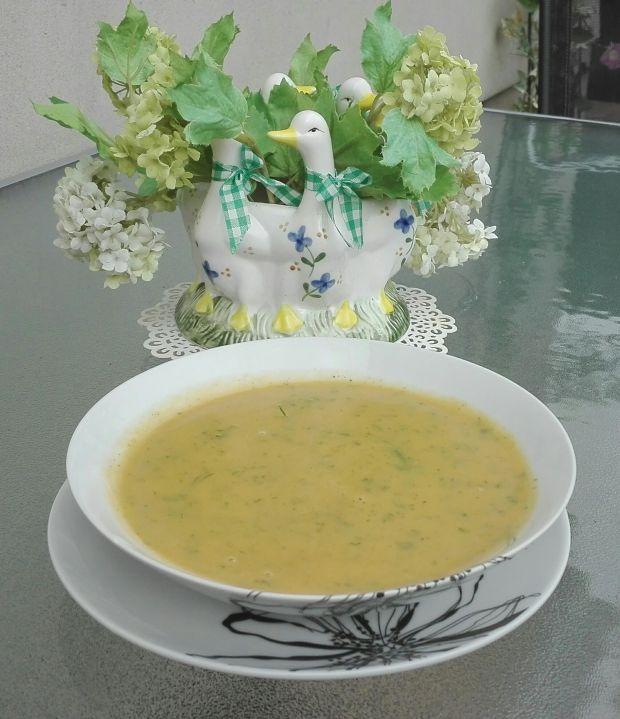 Zupa - krem z cukinii z koperkiem