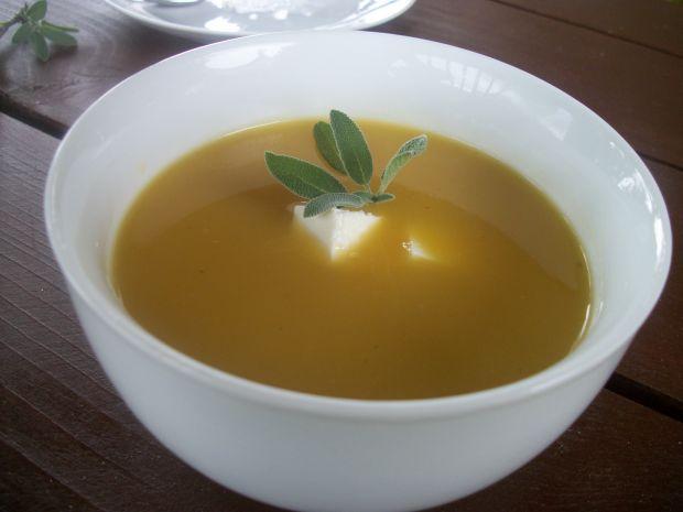 Zupa krem z dyni z fetą