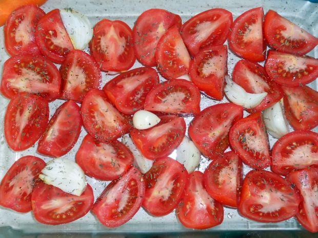 Zupa krem z pieczonych pomidorów