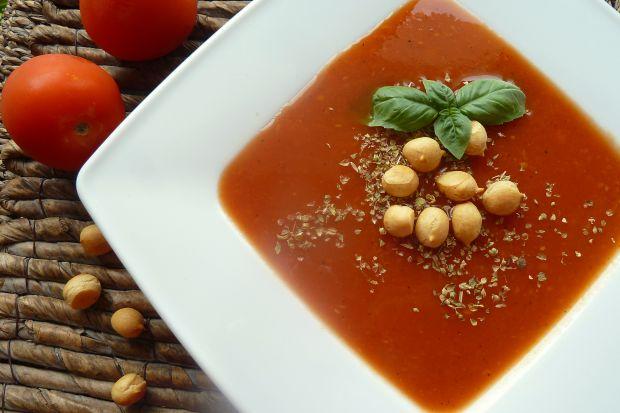 Zupa krem z pomidorów z skórką cytryny i czosnkiem