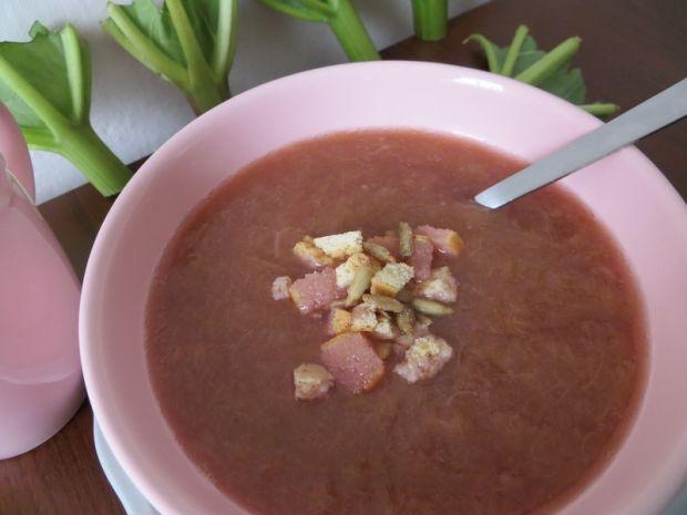 Zupa krem z rabarbaru