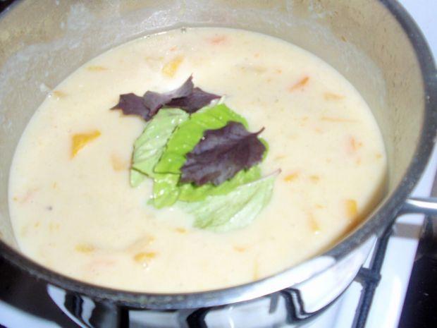 Zupa krem z żółtej cukinii