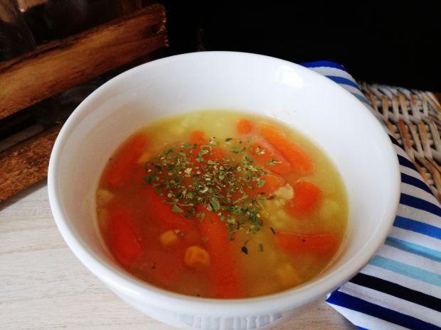 Zupa kukurydziano marchewkowa z ryżem