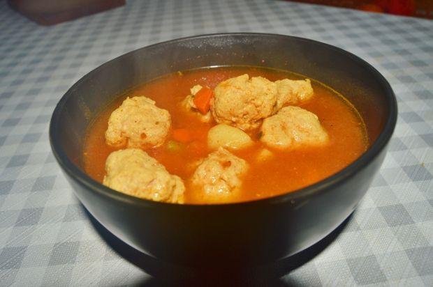 Zupa meksykańska z pulpetami