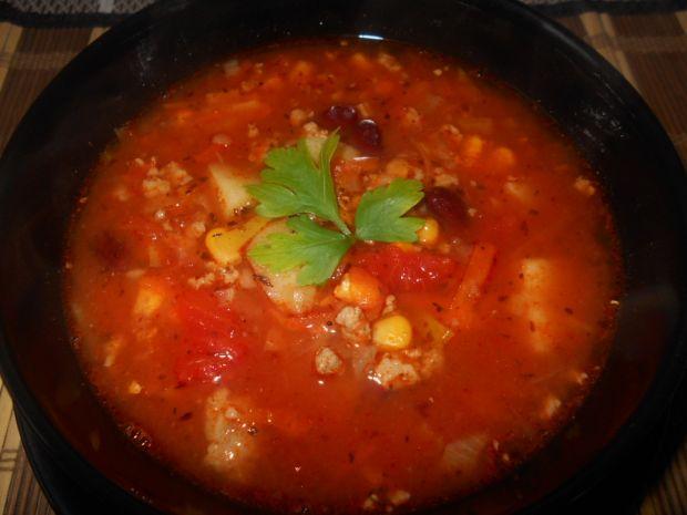 Zupa meksykańska z ziemniakami i włoszczyzną
