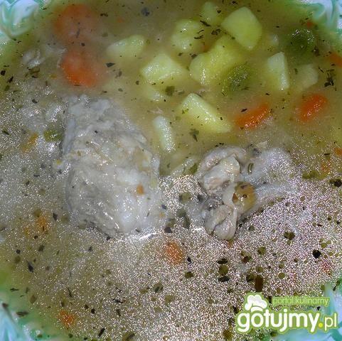 Zupa mięsno - warzywna na zasmażce