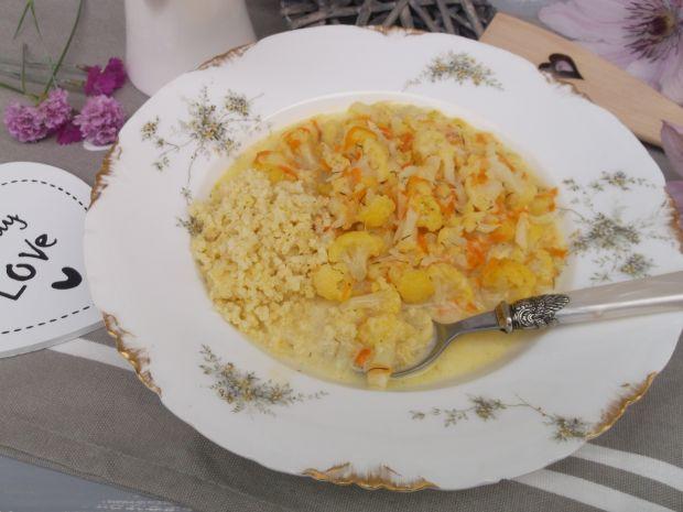 Zupa na smażonych warzywach z kaszą jaglaną