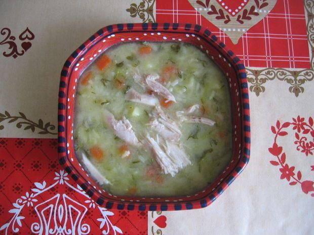 Zupa ogórkowa z ryżem i koperkiem