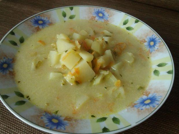 Zupa ogórkowa z ziemniakami i serkiem