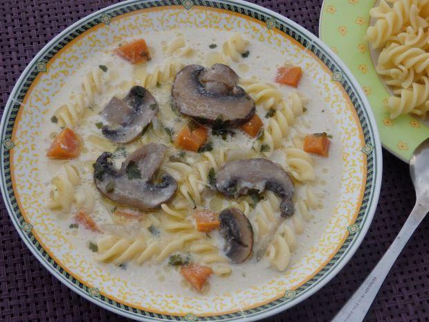 Zupa pieczarkowa z brązowych pieczarek z mascarpon