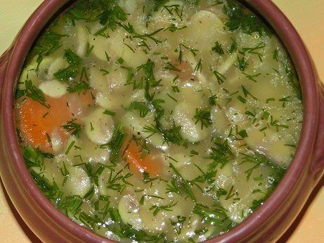 Zupa pieczarkowa z kaszą jęczmienną