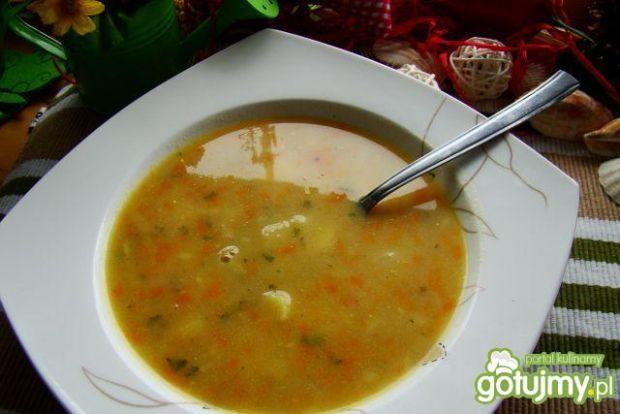 Zupa pieczarkowa z młodymi warzywami