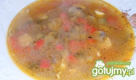 Zupa pieczarkowa z papryką