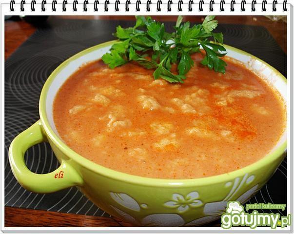 Zupa pomidorowa z lanym ciastem Eli