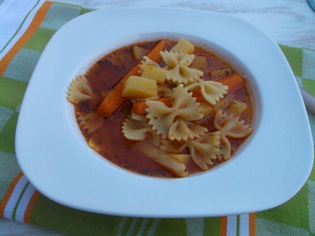 Zupa pomidorowa z ziemniakami i makaronem