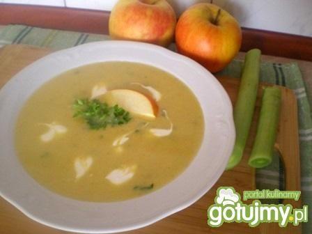 Zupa porowo-jabłkowa