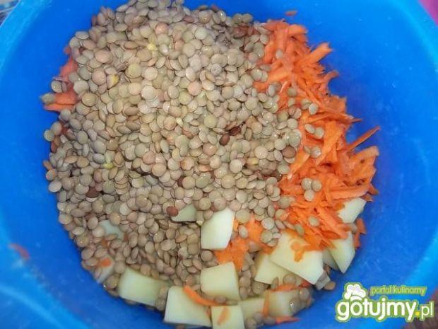 Zupa porowo-marchewkowa z soczewicą