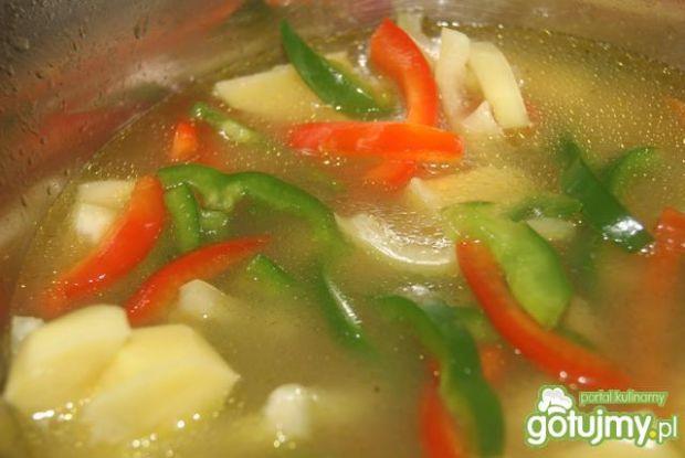 Zupa rosołowa z papryką
