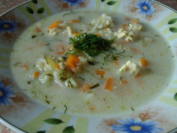 Zupa ryżowa z ogórkiem konserwowym