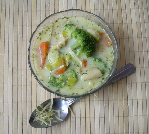 Zupa serowo-brokułowa z kurczakiem