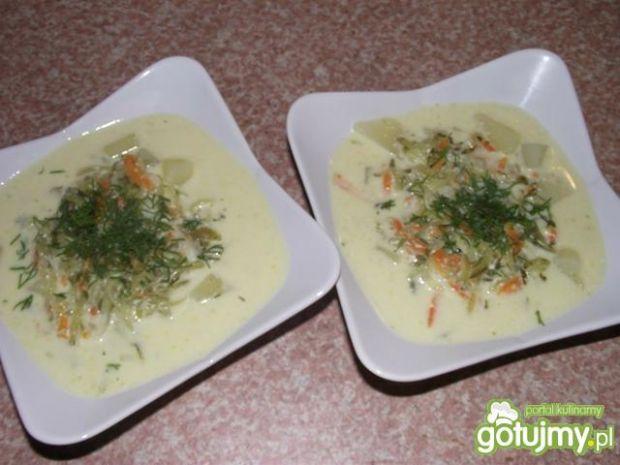 Zupa serowo ogórkowa z ziemniakami