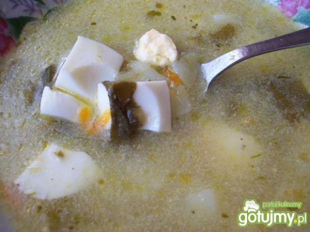 Zupa szczawiowa z jajem