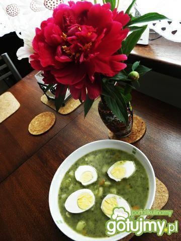 Zupa szczawiowa z jajkiem.