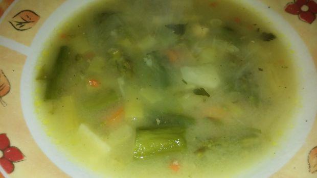 Zupa szparagowo - fasolowa