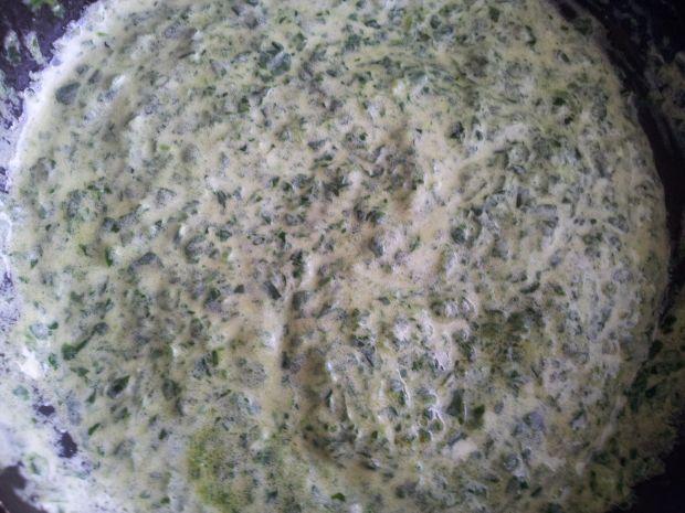 Zupa szpinakowo-ogórkowa ze śmietaną
