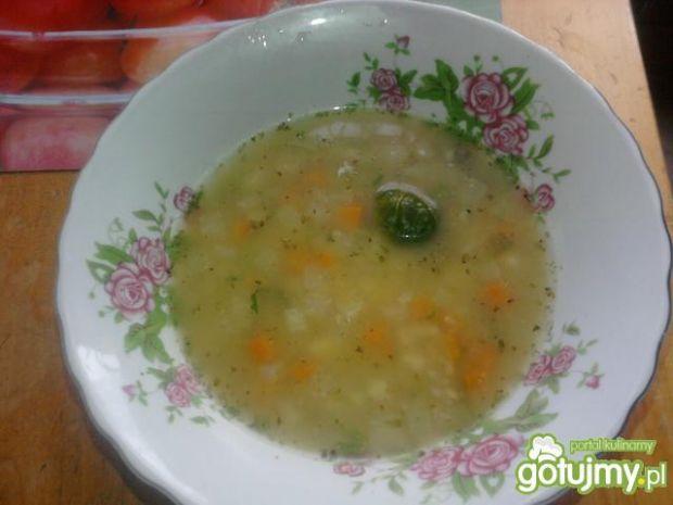 Zupa warzywna z ryżem.