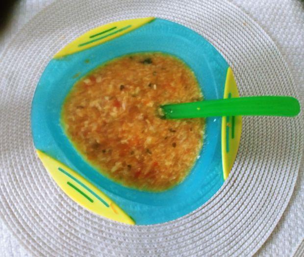 Zupa warzywno-mięsna z lanymi kluseczkami dla dzi