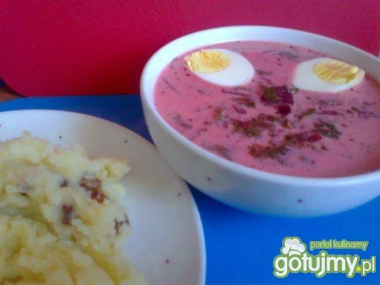 zupa wiosenna- botwinka z jajkiem