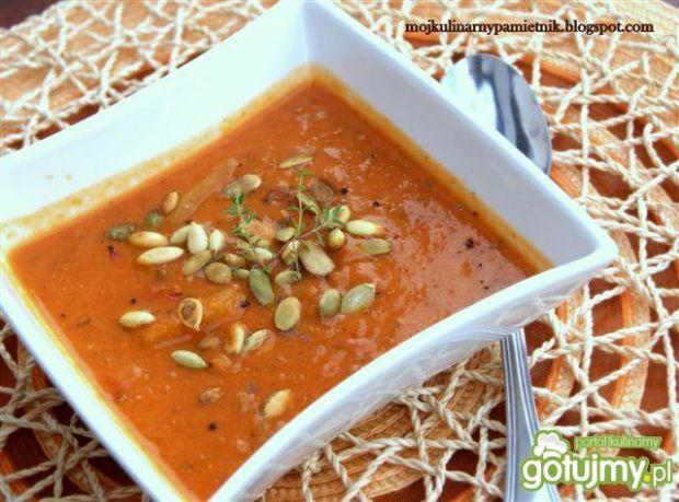 Zupa z dyni i pomidorów