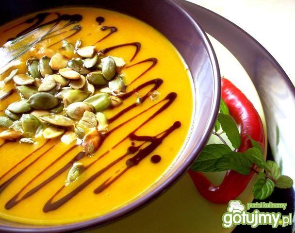 Zupa z dyni z chili i czosnkiem
