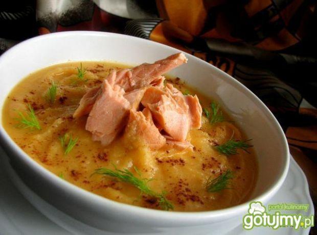 Zupa z dyńki z rybcią