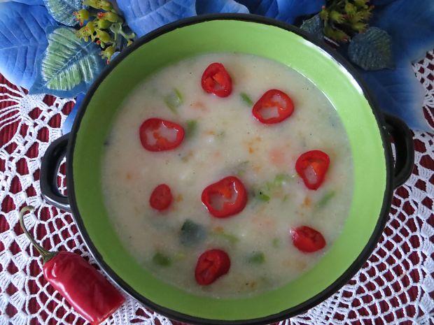 Zupa z fasoli szparagowej z cytrynowym posmakiem