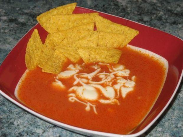 Zupa z grillowanej papryki