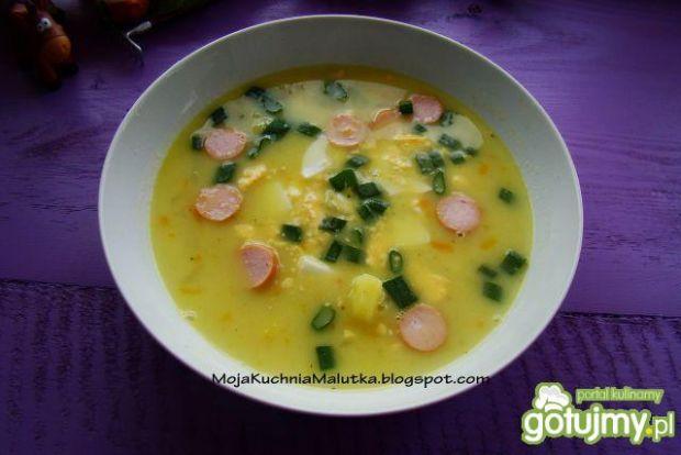 Zupa z kalarepy z jakiem i parówką