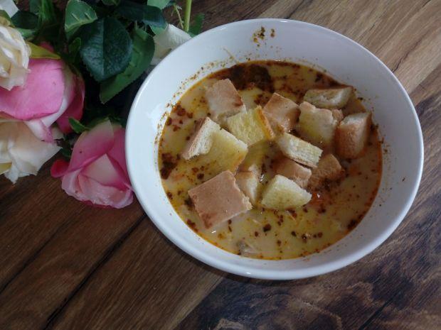 Zupa z kurczaka z serkiem topionym