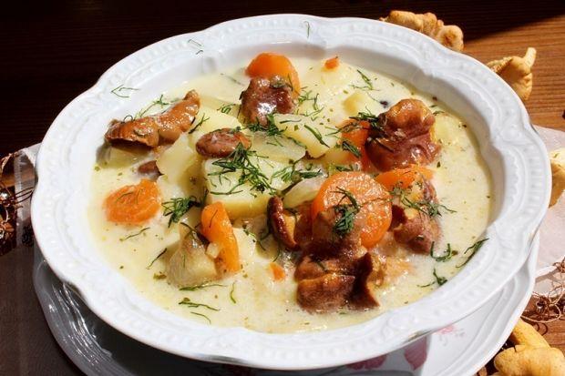 Zupa z kurek (kurkowa)