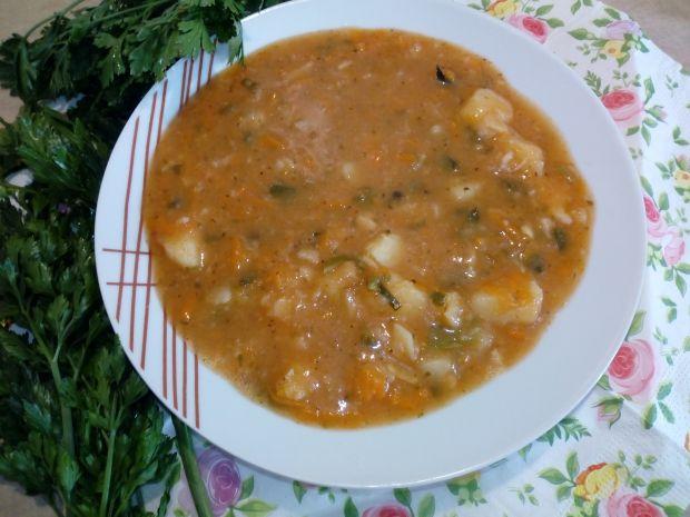 Zupa z patisonem na kości wędzonej