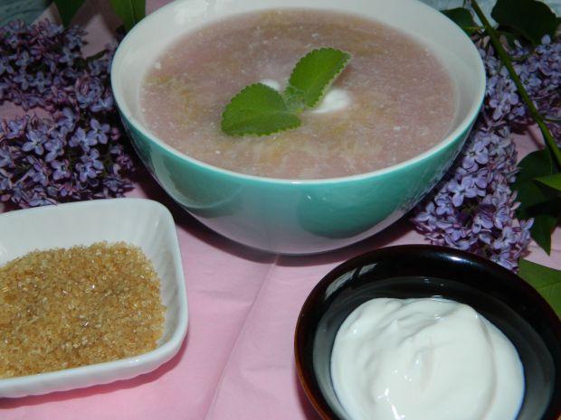 Zupa z rabarbaru na jogurcie z cukrem trzcinowym