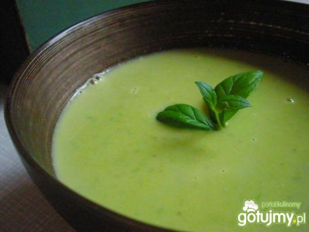 Zupa z zielonego groszku z mascarpone