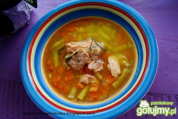 Zupka warzywna na pstrągu