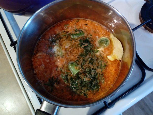 Zupka warzywna z jajkiem