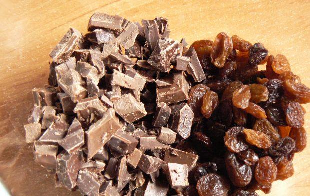 Bezglutenowe ciasteczka z czekoladą i rodzynkami