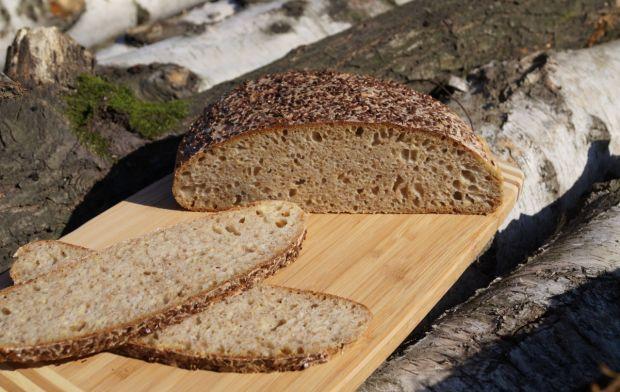 Chleb z kaszą jaglaną i otrębami, na zakwasie