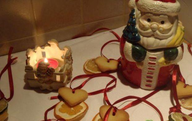 Choinkowe zawieszki z ciasteczkami