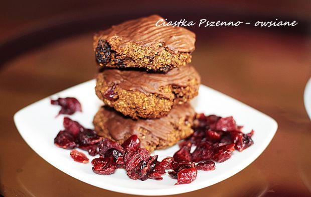 Ciastka Pszenno - owsiane w czekoladzie